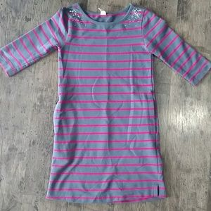 Girl's Old Navy pink and gray dress, size S